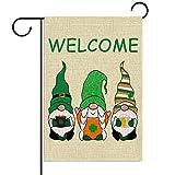 St. Patricks Day Gartenzwerg Flagge 12,5 × 18 vertikale doppelte Größe St Paddy's Day Kobold, Hofschild Irische Party Dekoration Outdoor Hof Willkommensschild