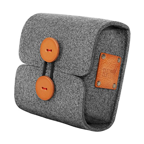 ELFRhino Wool Felt Storage Case Bag Pouch Charger Sleeve Travel Cable Electronics Accessories Organizer Compatible for MacBook Laptop Mouse Power Adapter Cables Computer Cellphone Accessories