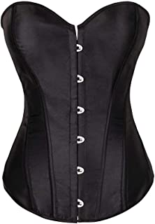 Sexy Strong Boned Corset Womens Plus Size Lace Up Bustier Top, Can Suit Any Occasion (Size : XXXXXX-Large)