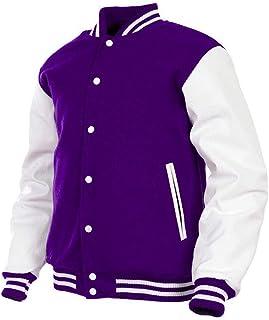 7d11df15a Women Varsity Jacket Genuine Leather Sleeve and Wool Blend Letterman Ladies  Girls College Varsity Jackets XS