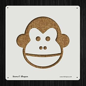 Monkey Animal Face Cartoon Chimp Style 13530 DIY Plastic Stencil Acrylic Mylar Reusable
