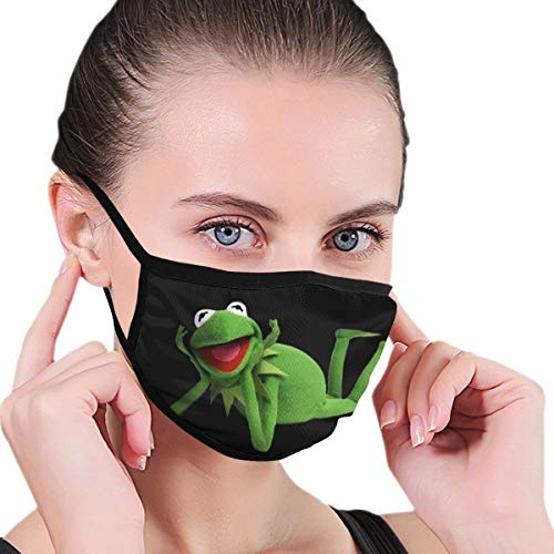 Lncsdk Aeuv Kermit The Frog Nahtloser staubdichter Schal Bandana Face Covers Wiederverwendbarer Schal