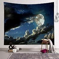 """ボヘミアン星空タペストリー、ムーン惑星ヒッピータペストリーウォールハンギング、ファミリーベッドルームリビングルームの壁の装飾 G-59""""×51.1"""""""