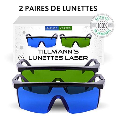 TILLMANN'S Gafas protectoras de depilación láser IPL y contra la con luz
