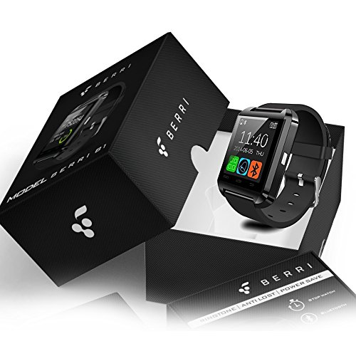 Tech Corp Smartwatch, Bluetooth, schwarz