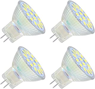 Bombilla LED GU4 MR11 12V para Foco Cocina, Luz Calida 3000K, Luz 120º, 4W LED para Sustituir Halógenos de 35W, No Regulable, AC/DC 12V-24V Foco Empotrable LED para Techo/Baño, pack de 4