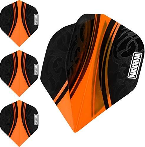 ABC Darts Flights Pentathlon - Tribal Orange - 10 sätz (30 stück Dart Flights)