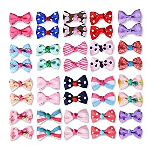 40 Pcs Pet Dogs Hair Clips Multicolor Alligator Clips Dog Topknot Bows Dog Grooming Bows Pet Supplies Dog Bows Dog Hair Accessories