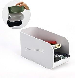 マグネットペンシルホルダー、 二層デスクトップペンホルダー、 斜めペンバレル、 強力な磁石で、 スクールスチューデントオフィスストレージボックスの場合、 1個,グレー