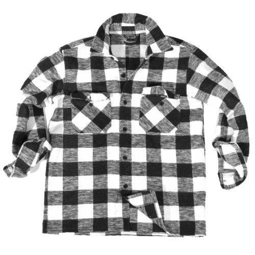 Chemise très chaud qui vous donnera un petit épais 100% coton/s à 3XL taille l (noir/blanc)
