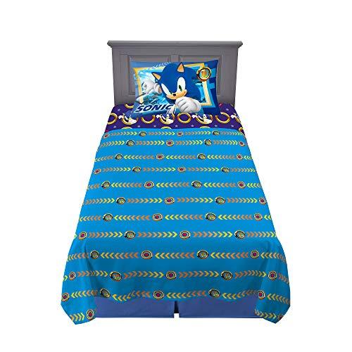 Franco Kids Bedding Super Soft Microfiber Sheet Set, 3 Piece Twin Size, Sonic The Hedgehog