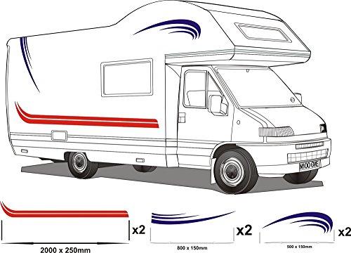 Smarts-Art–Vinilo adhesivo para autocaravana, varios colores, 9 unidades
