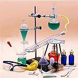 150ml de Petite Taille en Verre Huile Essentielle Vapeur Distillation Set Lab Appareil Hydrosol Distillation Kit avec Snake condensateur et Ampoule à décanter