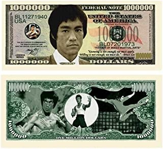 American Art Classics Bruce Lee Million Dollar Bill Collectible in Currency Holder - Best Gift Or Party Favor for Fans of This Martial Arts Legend