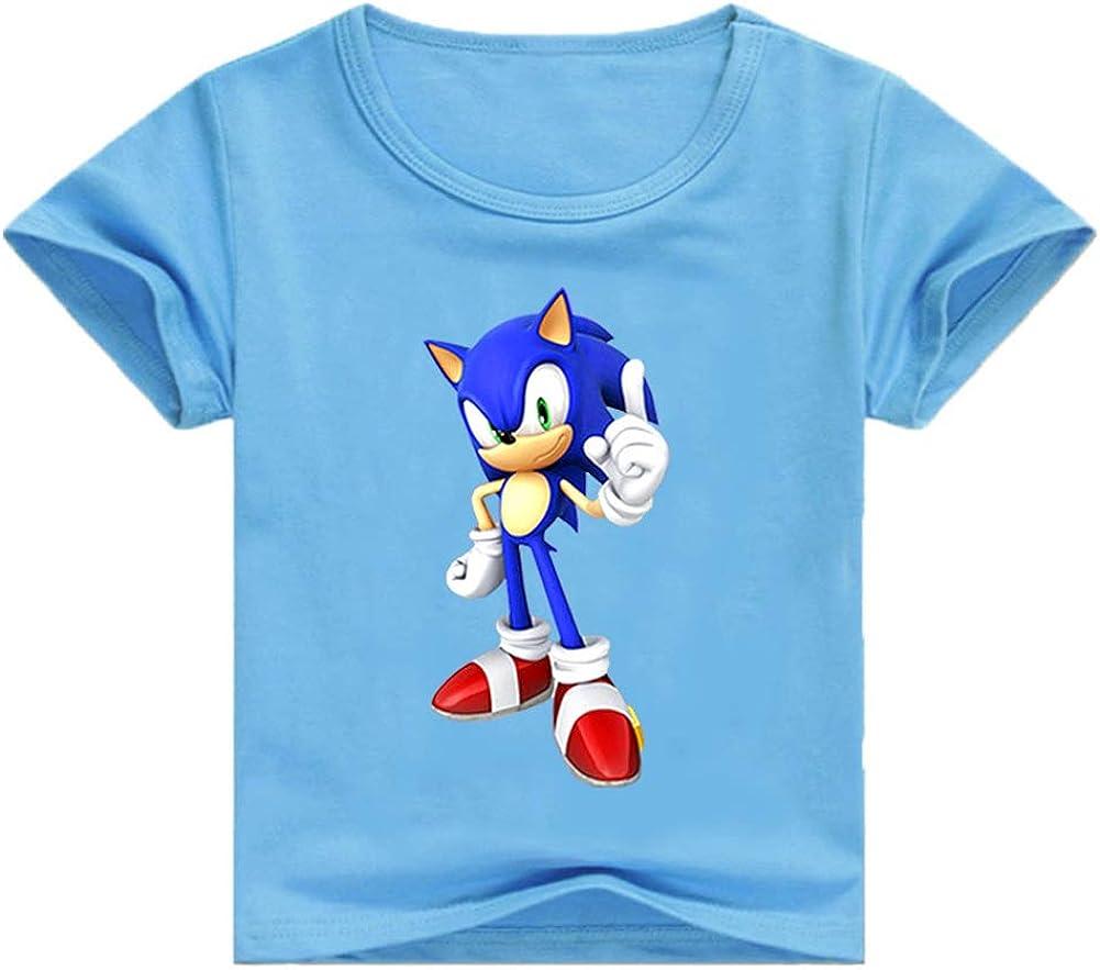 SUPFANS Kids Sonic The Hedgehog T-Shirt Short Sleeve Cotton Tee Shirts
