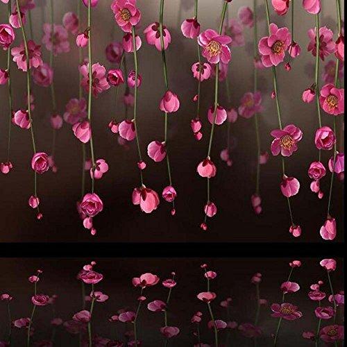 Yosot 3D behang Japanse kersenbloesem foto muurschilderijen Mooi bloem behang woonkamer landschap behang aangepaste grootte 300 cm x 210 cm.