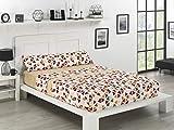 NH NOVOTEXTIL HOGAR Juego de sábanas de coralina 3 Piezas Varias Medidas,Modelos y Colores (Cama 135, Minneapolis)
