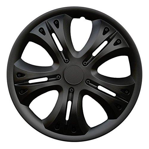 CM DESIGN 14 Zoll Radzierblenden Lion Black (Schwarz). Radkappen passend für Fast alle OPEL wie z.B. Corsa C