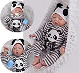 HRYEOY ZIYIUI 20 Pulgadas Reborn 50 cm Muñecas Bebé Realista Suave Silicona Simulación Vinilo Recién Nacido Reborn Niño Bebes Reborn Muñecos Regalo Magnetismo Real Durmiendo Chico