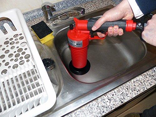 Rothenberger IndustrialPressluft Rohrreiniger (4 bar) zur Reinigung verstopfter Abflüsse im Bad oder WC - 3