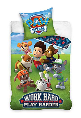 Paw Patrol Kids Duvet Cover Set 140x200 CM + 65x65 CM Cotton