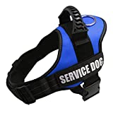 GOLDBELL Emotional Support Vest Harness for Service Dog, Adjustable Nylon with Removable Reflective Patches for Small Medium to Large Dogs (Small:Neck 16-20 inch;Chest 20-25 inch, Color Plaid)