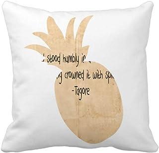 OFFbb-USA Qoutes Famous People Healing Clouds Humbly Pineapple - Funda cuadrada para almohada