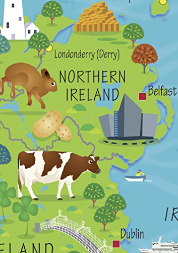 Children's Wall Map of the United Kingdom and Ireland
