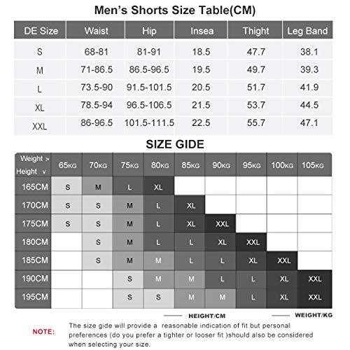 XGC Herren Kurze Radlerhose und Radunterhose Radsportshorts Fahrradhose für Männer elastische atmungsaktive 4D Schwamm Sitzpolster mit Einer hohen Dichte (S, Black_Green) - 7