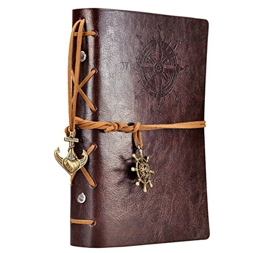 Leather Writing Journal Notebook, EvZ 7 Inches...