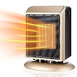 SCIDS Calefacción Calentador De Espacio Casa Portátil Dos Archivos 400W / 900W PT C Calefacción De Cerámica, Protección De Control De Temperatura Interna Bottom Anti-Falling (Color : Gold)