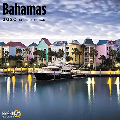 2020 Bahamas Wall Calendar by Bright Day, 16 Month 12 x 12 Inch, Tropical Island, Beaches, Travel Destination