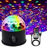 WANGZAI Luces Discoteca Bola De Discoteca Activadas por Música con 9 Colores RGBY Control Remoto Adecuado para Fiestas De Cumpleaños, Bares, Bodas De Navidad.