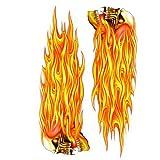Pilot Automotive GRP-119 Left & Right Flaming Skulls Decal 6x8 Sheet