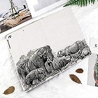 印刷者IPad Pro 11 ケースiPad Pro 11 カバー 軽量 薄型 PUレザー 三つ折スタンド オートスリープ機能 2018年秋発売のiPad Pro 11インチ専用古代ゾウサイアートイメージ野生のサファリ動物ビンテージスタイルプリント家の装飾