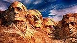 XiuTaiLtd Rompecabezas para Adultos 1000 Piezas Juego De Madera Mount Rosemore National Memorial Park, Dakota del Sur Rompecabezas para Nios Juguetes Decoracin del Hogar, Regalos De Cumpleaos