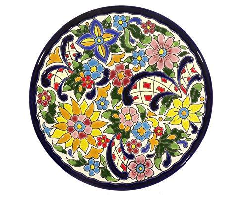 Grabado y Cerámica Española Platos Decorativos para Pared, Pintados a Mano con la técnica de la Cuerda Seca. Cerámica Andaluza 21 CM.52103