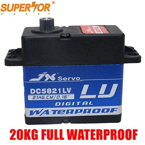 JX Servo DC5821LV Full Waterproof IP67 22kg 0.16sec Metal Gear For 1/8 1/10 Scaler Buggy Crawler TRAXXAS RC4WD TRX- SCX104 D90 RC Car
