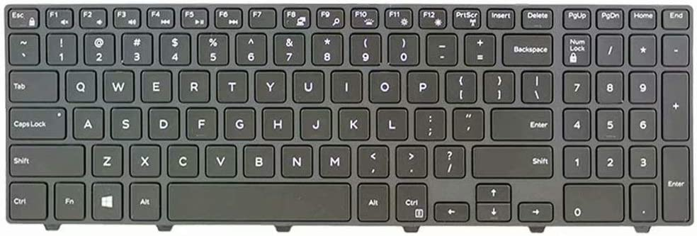 Givwizd Laptop Replacement Backlit Keyboard Compatible for Dell Inspiron Model P57F, US Layout