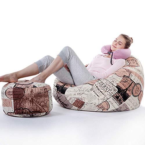 PDDXBB Puf de Tatami con reposapiés sillón puf sofá tamaño 80 * 90cm-03