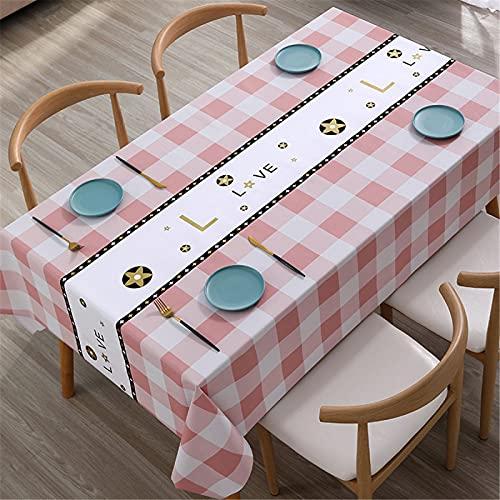 Mantel Estampado Mantel Simple Mantel De Plástico PVC Impermeable Mantel Rectangular Mesa De Centro Mantel Resistente Al Aceite 120x170cm(WxH) B