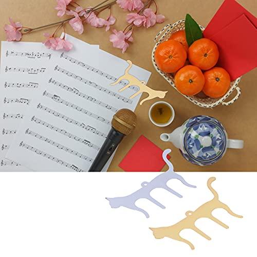 Soporte de música para piano Clip de libro, arregle su página de música Clip de libro de música Pequeño y ligero Flexible y resistente para músicos Sus amigos o niños para partituras