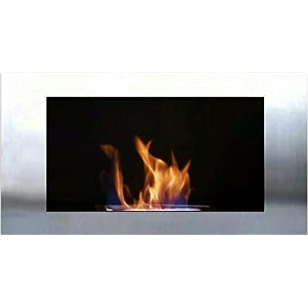 Gel + Ethanol Fire-Places Diana Chimenea de gel + etanol, Acero inoxidable, 1