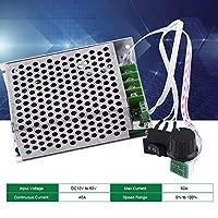 WEI-LUONG DC 10V-50V 40Aモータースピードコントローラー、スイッチと知事方向逆転スイッチ調節可能なモータドライバモジュールポテンショメータ 工業用モータ