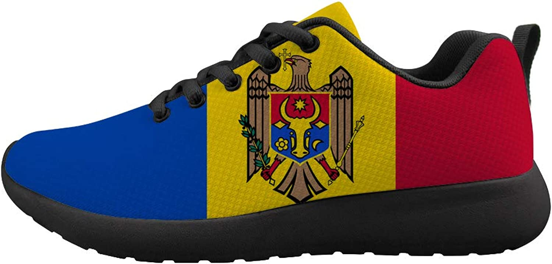Owaheson Cushioning Sneaker Trail Running shoes Mens Womens Moldova Flag