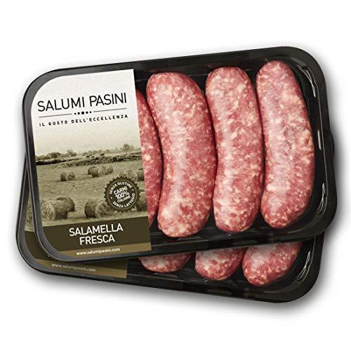 Salamella fresca di puro suino, 2 vaschette, Salumi Pasini, 250g cad.