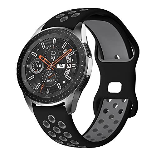 Syxinn Compatible con Samsung Galaxy Watch 46mm Correa Gear S3 Frontier Classic Correas 22mm Pulsera Silicona Deportiva Banda para Galaxy Watch 3 45mm/Huawei Watch GT/GT 2e/GT 2 46mm/Ticwatch Pro