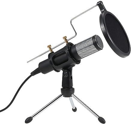 DDSHYNH Microfono Professionale a condensatore con Microfono per Registrazione Microfoni con Mini Supporto Mic per Tablet PC Laptop iPhone,A - Trova i prezzi più bassi
