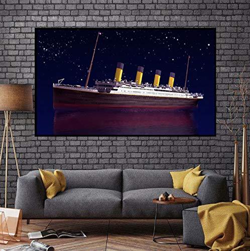 DAQIANSHIJIE Titanic Leinwand Malerei Kunst Wandbild Drucken Leinwand Poster Wohnzimmer Bar Familie Kunst 50X85 cm Ohne Rahmen