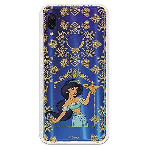 Funda para Xiaomi Redmi 7 Oficial de Aladdin Jasmín Floral Transparente para...